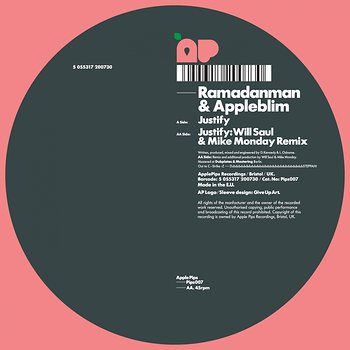 Cover art - Ramadanman & Appleblim: Justify