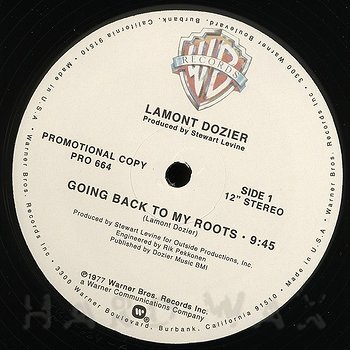 Cover art - Lamont Dozier: Going Back To My Roots