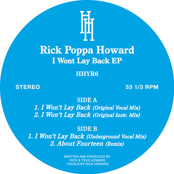 Cover art - Rick Poppa Howard: I Won't Lay Back EP