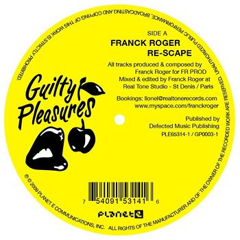 Cover art - Franck Roger: Re-Scape