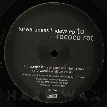 Cover art - To Rococo Rot: Forwardness Fridays EP