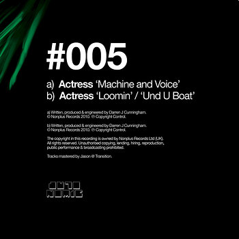 Cover art - Actress: Machine And Voice