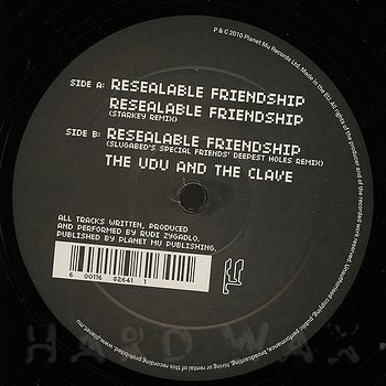 Cover art - Rudi Zygadlo: Resealable Friendship