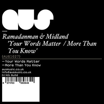 Cover art - Ramadanman & Midland: Your Words Matter