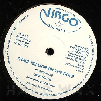 Cover art - Lion Youth: Three Million On The Dole