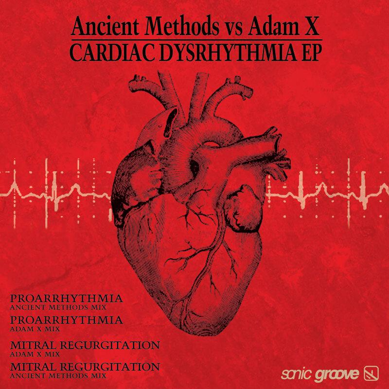 Cover art - Ancient Methods vs Adam X: Cardiac Dysrhythmia EP