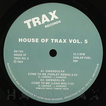 Cover art - Various Artists: House Of Trax Vol. 5