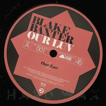 Cover art - Blake Baxter: Our Luv