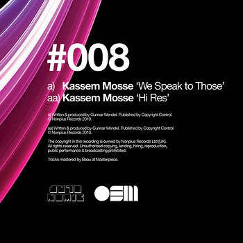 Cover art - Kassem Mosse: We Speak To Those