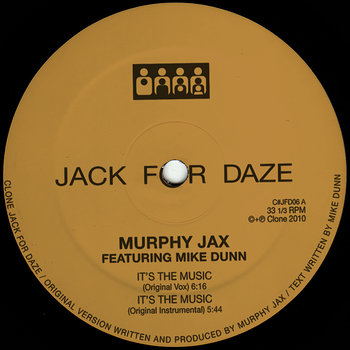 Cover art - Murphy Jax: It's The Music (feat. Mike Dunn)