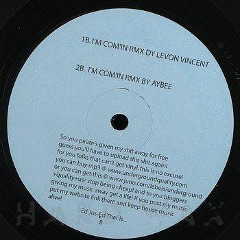 Cover art - DJ Jus-Ed: I'm Comin