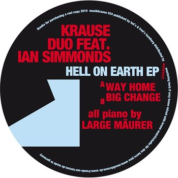 Cover art - Krause Duo feat. Ian Simmonds: Hello On Earth EP