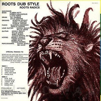 Cover art - Roots Radics: Roots Dub Style
