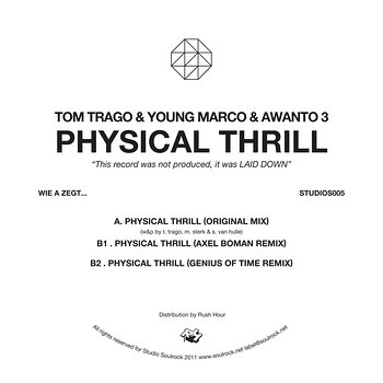 Cover art - Tom Trago, Young Marco & Awanto 3: Physical Thrill