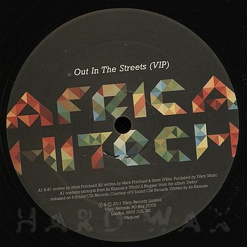 Cover art - Africa Hitech: Out In The Streets (VIP)