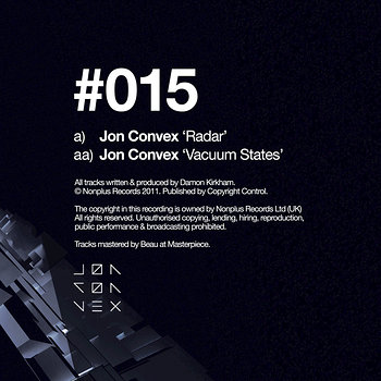 Cover art - Jon Convex: Radar