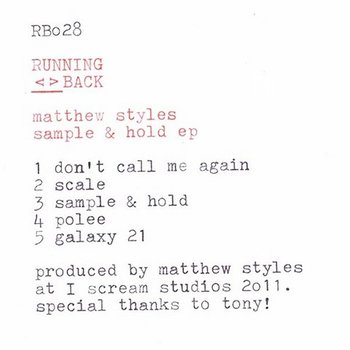 Cover art - Matthew Styles: Sample & Hold EP