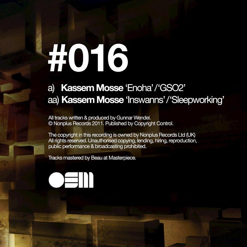 Cover art - Kassem Mosse: Enoha EP