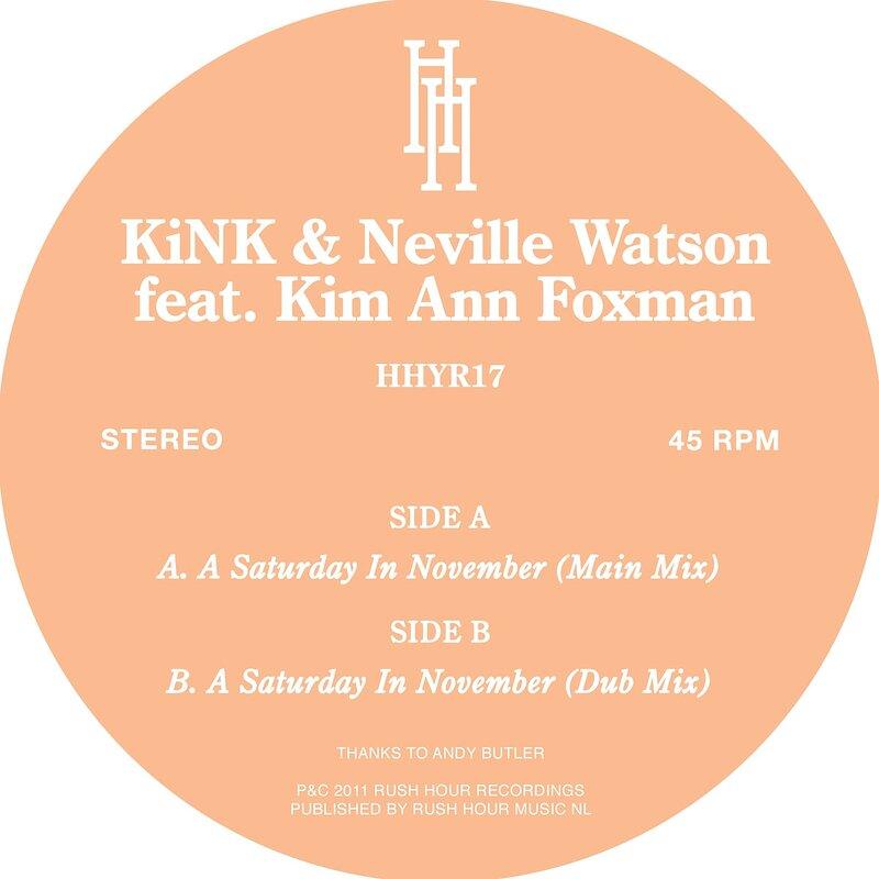 Cover art - Kink & Neville Watson: A Saturday In November (Feat. Kim Ann Foxman)