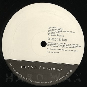 Cover art - Theo Parrish: S.T.F.U.