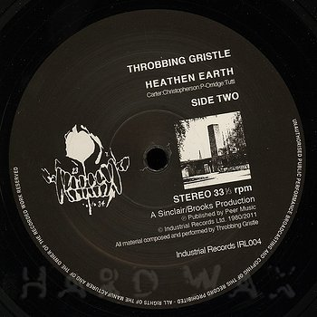 Cover art - Throbbing Gristle: Heathen Earth