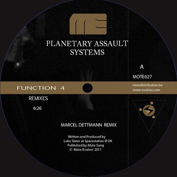 Cover art - Planetary Assault Systems: Function 4 Remixes Episode 1