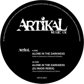 Cover art - Artikal: Alone In The Darkness
