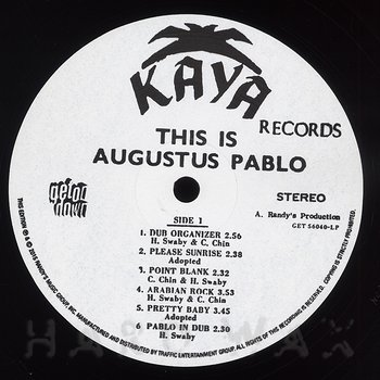 Cover art - Augustus Pablo: This Is Augustus Pablo