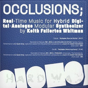 Cover art - Keith Fullerton Whitman: Occlusions