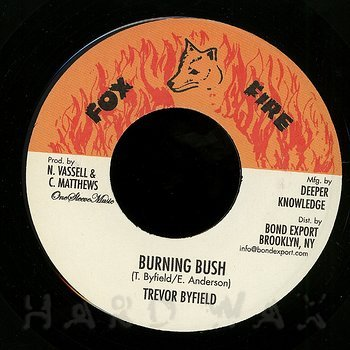 Cover art - Trevor Byfield: Burning Bush