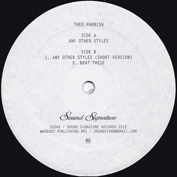 Cover art - Theo Parrish: Any Other Styles