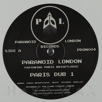 Cover art - Paranoid London feat. Paris Brightledge: Paris Dub 1