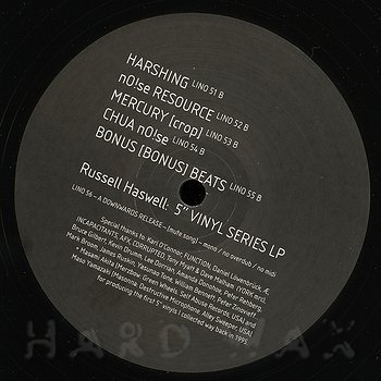 "Cover art - Russell Haswell: 5"" Vinyl Series LP"