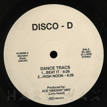 Cover art - Disco D: Dance Tracs