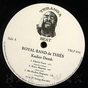 Cover art - Royal Band De Thiès: Kadior Demb