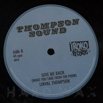 Cover art - Linval Thompson: Give Me Back