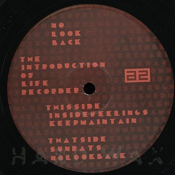 Cover art - The Introduction Of Life Recorder: No Look Back