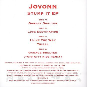 Cover art - Jovonn: Stump It EP