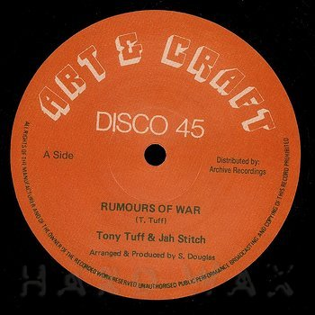 Cover art - Tony Tuff & Jah Stitch: Rumours Of War
