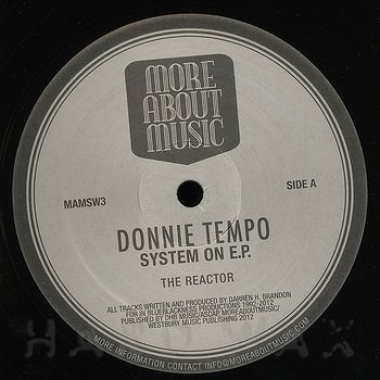 Cover art - Donnie Tempo: System On EP