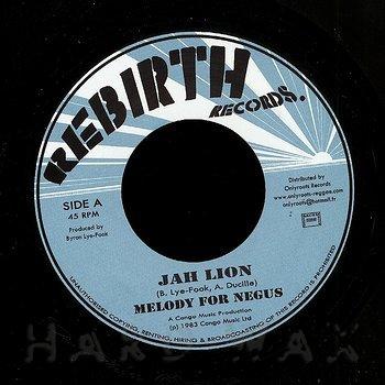 Cover art - Jah Lion: Melody For Negus