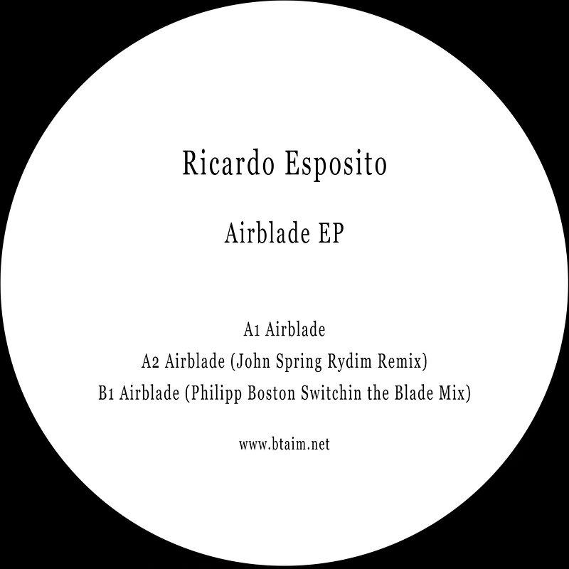 Cover art - Ricardo Esposito: Airblade EP