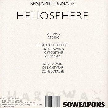 Cover art - Benjamin Damage: Heliosphere