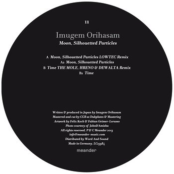 Cover art - Imugem Orihasam: Moon, Silhouetted Particles