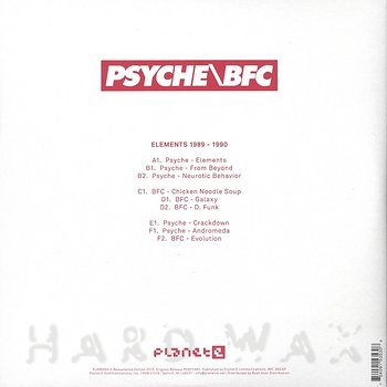 Cover art - Psyche / BFC: Elements 1989-1990