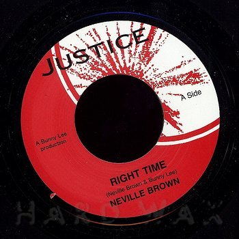 Cover art - Neville Brown: Right Time