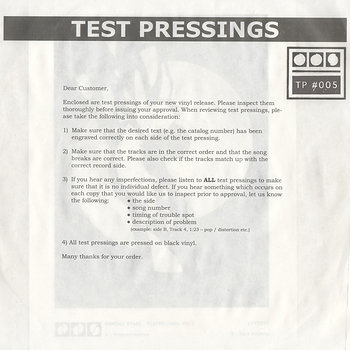 Cover art - Demdike Stare: Testpressing #005