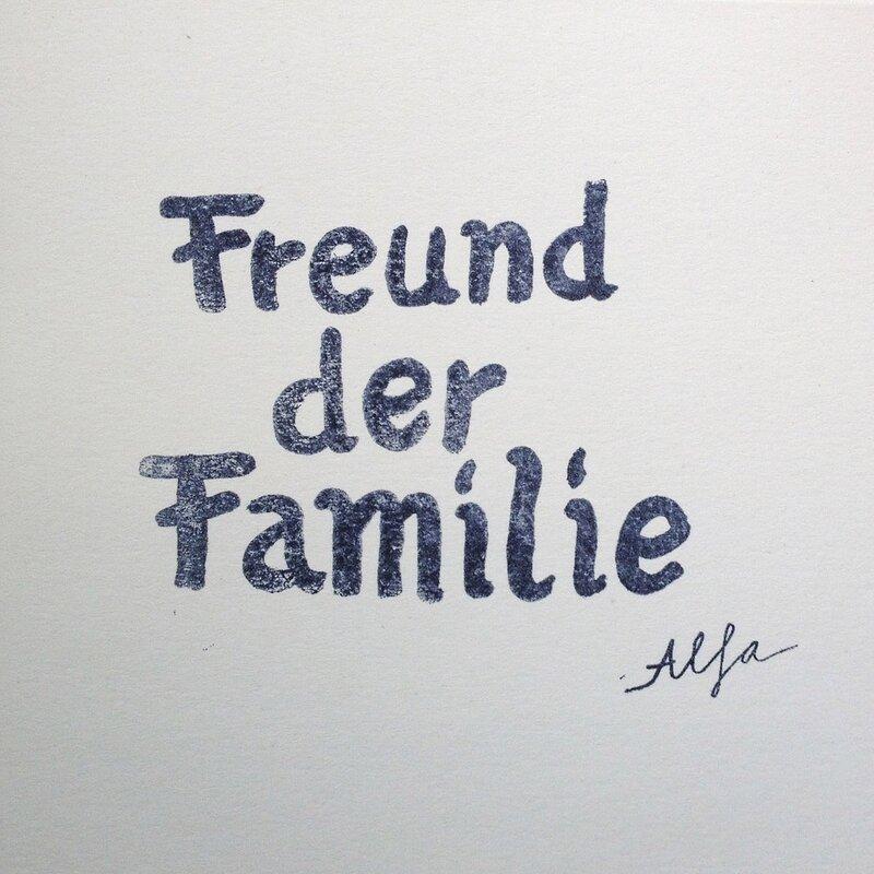 Cover art - Freund der Familie: Alfa