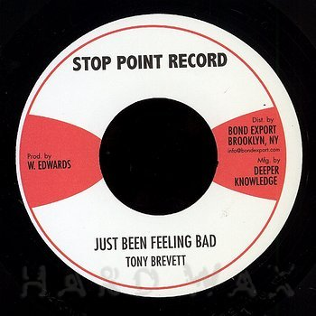 Cover art - Tony Brevett: Just Been Feeling Bad