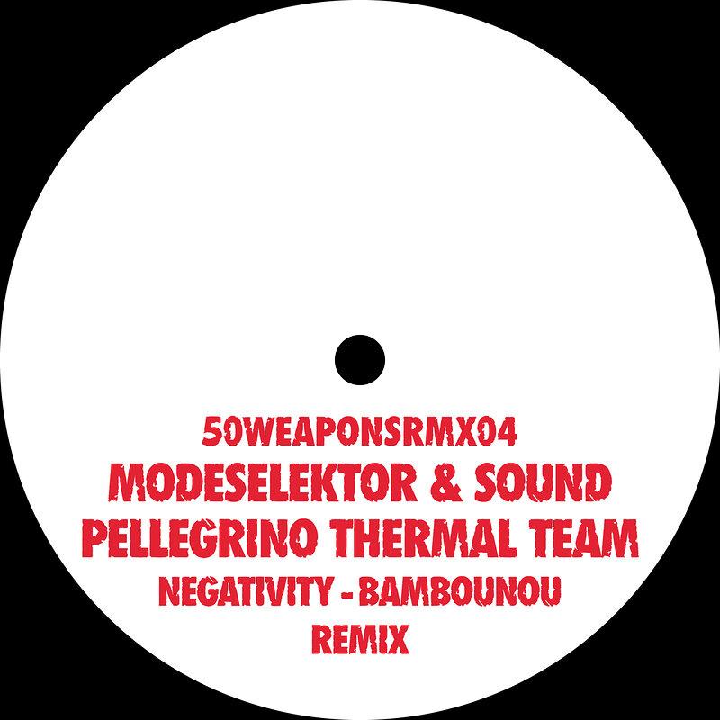 Cover art - Modeselektor & Sound Pellegrino Thermal Team: Negativity